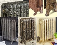 Beautiful cast iron radiators in a range of antique finishes, a two tone mix of paints highlights the delightful textured surface. These cast iron radiators are available from SMR Bathrooms http://www.smrbathrooms.co.uk/acatalog/Cast-Iron-Radiators.html who specialise in cast iron and designer radiators.