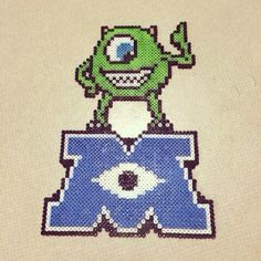 Monsters Inc logo with Mike perler beads by kenta_xx