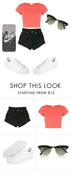 """Untitled #132"" by xxxxxxxxxmuffin13xxxxxxxxx ❤ liked on Polyvore featuring River Island, adidas Originals and Ray-Ban"