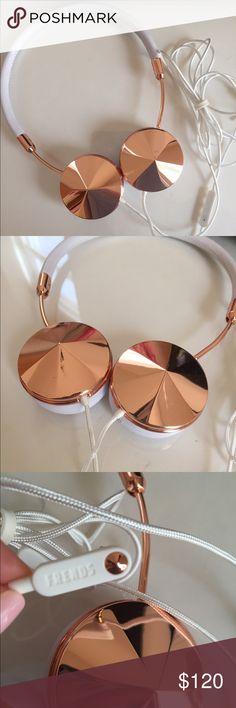 Brand new Frends rose gold headphones! White leather plus rose gold cap Layla headphones Frends Accessories Tablet Cases