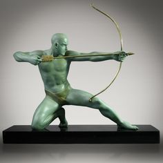 1930'S French ART Deco Archer Sculpture Signed G Darny | eBay