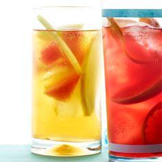 Honeydew & Watermelon Iced Tea (8 tea bags (green tea or hibiscus tea, such as Red Zinger) 1 cup 1-inch pieces watermelon  1 cup thinly sliced honeydew melon)
