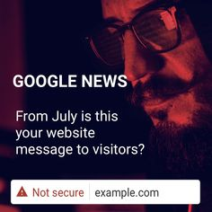 From July is forcing all to use an SSL certificate? If you're not sure how this affects you then JP's happy to take a look and chat to you: Internet Marketing, Online Marketing, Digital Marketing, Media Web, Google News, Digital Media, Personal Branding, Did You Know, Certificate
