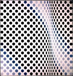 Bridget Riley- Queen of Op Art. So much movement.
