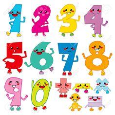 Numeros Infantiles Imágenes De Archivo, Vectores, Numeros ...