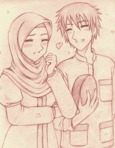 Happy Couples Pencil Drawings Art Anime