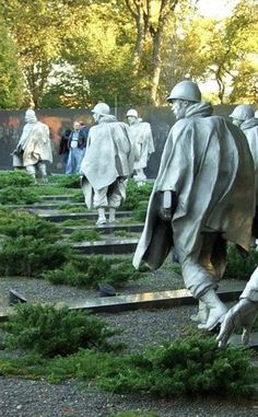Korean War Veterans Memorial | Travel | Vacation Ideas | Road Trip | Places to Visit | Washington | DC | Other Historical | Historic Site | Monument | Military Site