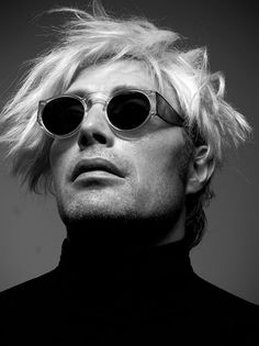 Mads Mikkelsen (as Andy Warhol) photographed by Kenneth Willardt for The Lab Magazine