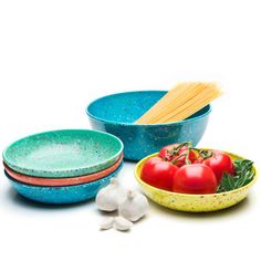 Confetti 5-piece Pasta Bowl Set - Tropics - front view