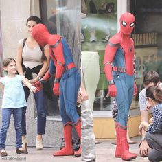 — [NEW] More set photos of Spider-man: Homecoming filming yesterday in Atlanta, Georgia!  What a lucky girl. Must have been a special moment for both of them!