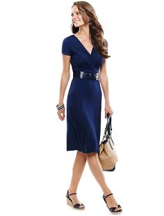 Talbots - Surplice-Wrap Sash Dress | Dresses | Apparel