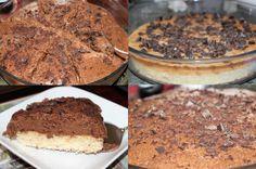 Gourmandise tout chocolat, Génoise chocolat blanc & Mousse au chocolat noir