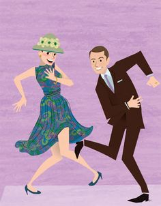 Pete and Trudy doing the Charleston on Mad Men. I wish I could dance but I inherited the gift of no rhythm.