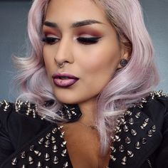 Anstasia beverly hills and melt cosmetics, hair is pravana