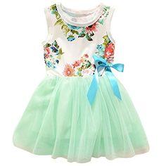 Theplus Little Girls Sleeveless Floral Princess Dress Tulle Tutu Sundress - http://www.darrenblogs.com/2017/02/theplus-little-girls-sleeveless-floral-princess-dress-tulle-tutu-sundress/