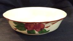 Franciscan APPLE Small Round Vegetable Serving Bowl TV Screen Backstamp Dinnerware Red Apples, Green Leaves, Brown Trim Excellent Condition by libertyhallgirl on Etsy $24.97 each