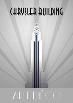 Retro Chrysler Building Poster