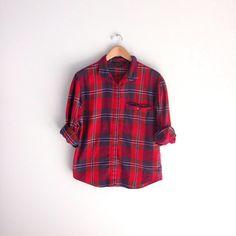 Vintage 80s Women's Plaid Flannel Eddie Bauer Shirt by louiseandco, $25.00