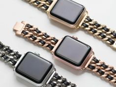 Chainlink & Leather Band for the Apple Watch