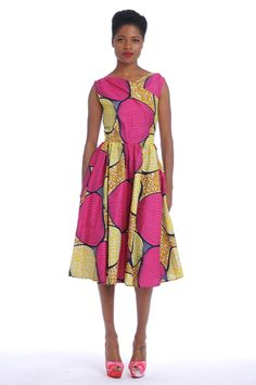 African Print Vintage Dress
