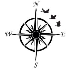 Some of my favorite tattoo ideas put together. I will be getting this done Friday! Compass tattoo with birds