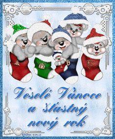 Veselé Vánoce Obrázky 4 Merry Christmas, Christmas Ornaments, My Heritage, Advent, Christmas Stockings, Holiday Decor, Cards, European Countries, Home Decor