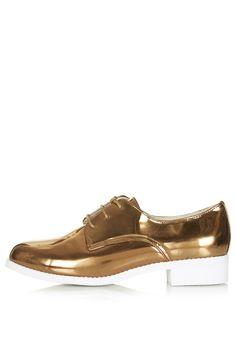 FLASH Metallic Lace-Up Shoes - Topshop USA