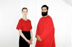 Simple Life: Hanna Putz Takes on Fall's Bold Minimalism. Vionnet dress; Jil Sander coat.