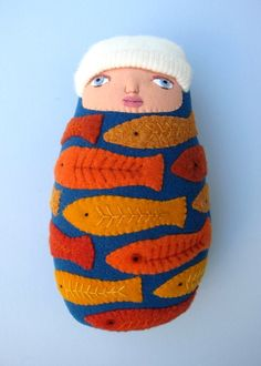 "water baby doll by Mimi Kirchner.   She wrote: ""I don't believe that ""swimming with the fishes"" would be an appropriate title, right ;^)"""