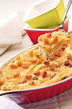 Yummy Dessert Recipes – Bread Pudding Delicious Desserts, Dessert Recipes, Yummy Food, Bread Recipes, Yummy Recipes, Macaroni And Cheese, Food And Drink, Appetizers, Pudding