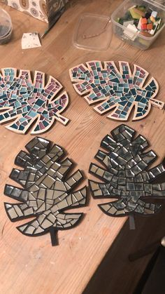 Coasters of glass. It is my working progress bottle crafts videos Mosaics projects.