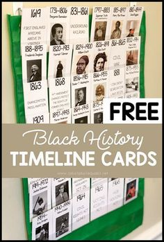 Free Black History Timeline Printables. One of many posts in a Black History Month learning series. #1plus1plus1 #homeschool #homeschooling #blackhistorymonth  #booklists