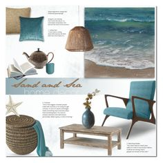 """""""Of Sand and Sea"""" by alexandrazeres ❤ liked on Polyvore featuring interior, interiors, interior design, home, home decor, interior decorating, Thrive, Denby, Selamat Designs and Ralph Lauren"""