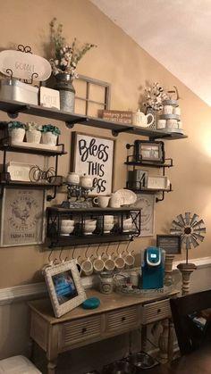 Modern farmhouse coffee bar