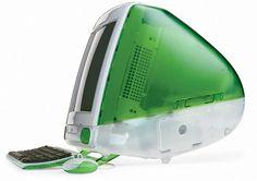 My lime green Apple iMac Computer vintage 1999