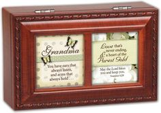 Cottage Garden Grandma You Have Woodgrain Petite Music Box / Jewelry Box Plays How Great Thou Art *** Click image for more details.