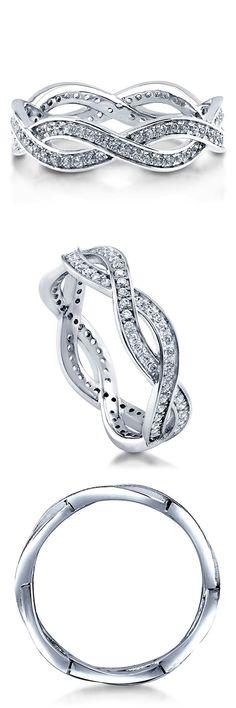 Berricle 925 Silver & Swarovski Zirconia Woven Eternity Band Ring - LOVE THIS