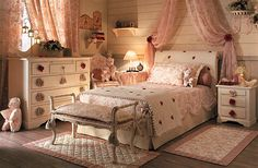 The design of the bedroom in the Provence style decoration features furniture, textiles - Part 3 Shabby Chic Bedrooms, Shabby Chic Decor, Luxury Bedrooms, Girls Bedroom, Bedroom Decor, White Bedroom, Provence Style, Shared Bedrooms, Romantic Cottage