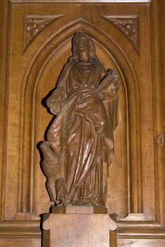 Église Saint-Martin (Prieuré d'Ambierle)-20110226-Saint Jean - Category:Pulpit of Église Saint-Martin, Ambierle — Wikimedia Commons
