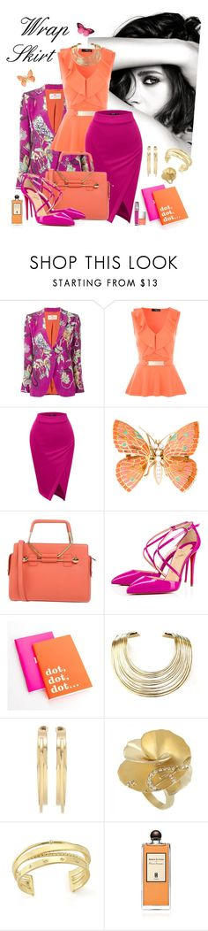 """""""Trends for Spring 2016:  Wrap Skirt"""" by kaypearl ❤ liked on Polyvore featuring Chanel, Etro, Viktor & Rolf, Christian Louboutin, Kate Spade, Bisjoux, By Malene Birger, Carrera y Carrera, Elizabeth and James and Serge Lutens"""
