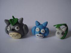 Totoro masa polimerica, porcelanicron. Polymer clay Totoro