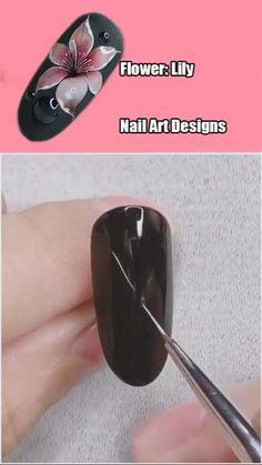 Rose Nail Art, Floral Nail Art, Rose Nails, Flower Nails, Nail Flowers, Nail Art Designs Videos, Nail Design Video, Nail Art Videos, Easy Nail Designs
