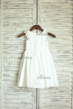 The dress is made of high quality cotton Fabric    Very simple but i am sure you love the extra lace i added at the sleeves and waistline/hem    Very