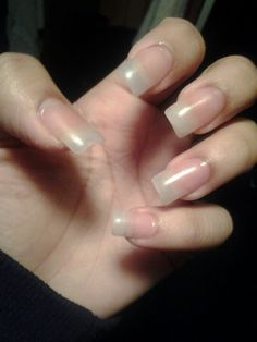 Want natural long.acrylic nails? Ask your manicurists for plain clear acrylic nails.