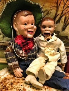 Howdy Doody and Charlie McCarthy.