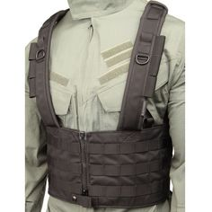 """• Constructed of 500 denier ripstop (solid colors) or CORDURA® nylon (MultiCam®)• Closed-cell foam padding in shoulder straps for superior comfort• Split front with heavy-duty zipper closure for easy on/off capability• Adjustable padded shoulder straps• Adjustable """"H"""" back harness to fit any size operator• Multiple rows of S.T.R.I.K.E.® webbing for attaching pouches or accessories• Three antenna/hydration tube sleeves on each shoulder• Two internal mesh pockets providing either top or side…"""