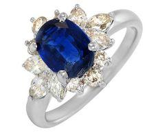 White Gold 1.72 CTW Kyanite and 0.83 CTW Diamond Ladies Ring ►► http://www.gemstoneslist.com/jewelry/kyanite-jewelry.html?i=p