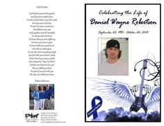 In Loving Memory of Daniel Wayne Robertson Please help us find a cure for Transverse Myelitis and other debilitating diseases by donating to AIM in memory of Daniel Robertson.
