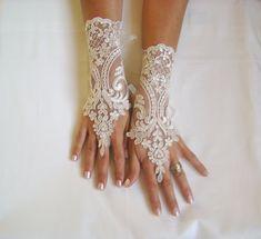 Soft beige  gloves free ship wedding bridal prom by GlovesByJana, $30.00