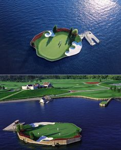 The movable, floating green. Must take putter shuttle boat to get to the green.